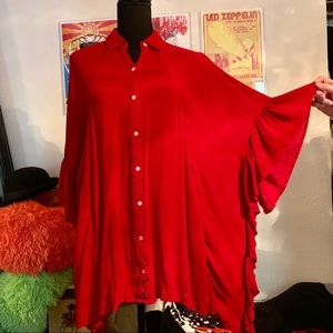 Free People Red Poncho Dress🌹